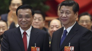 China's Premier Li Keqiang (L) and President Xi Jinping.