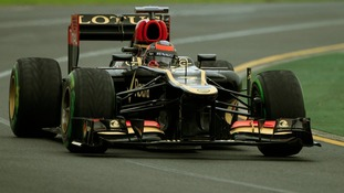 Lotus Formula One driver Kimi Raikkonen during the qualifying session of the Australian Grand Prix