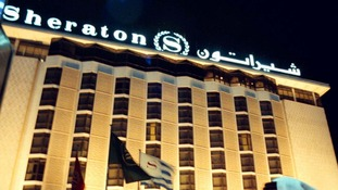 The Sheraton Hotel was full of journalists ion the eve of the invasion of Iraq