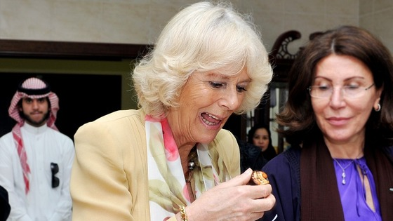 "Sampling some of the cakes the women had made, Camilla said they were delicious and asked: ""Can I take this and eat it later?"""