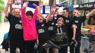 Charity riders finish cyclathon