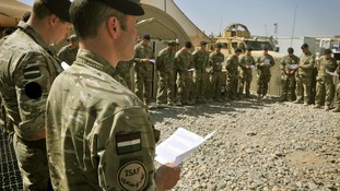 Members of the Royal Dragoon Guards (RDG) were presented with a trefoil to celebrate St Patrick's Day.