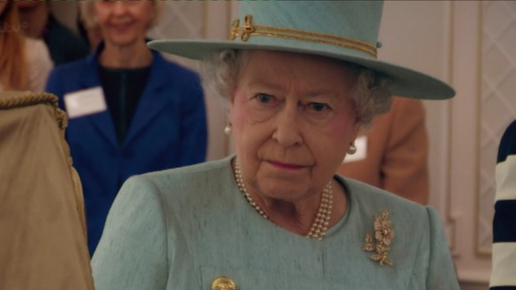 The Queen during a visit to Fortnum and Mason during her Jubilee year
