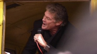 David 'The Hoff' Hasselhoff sings to save Berlin Wall