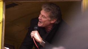 David 'The Hoff' Hasselhoff sings to save Berlin Wall