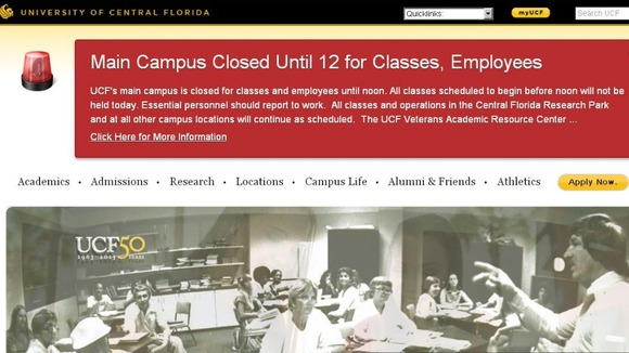 on the website of the University of Central Florida Credit: University ...
