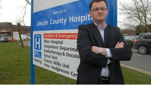 Gary Walker outside Lincoln County Hospital