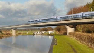 Computerised image of HS2
