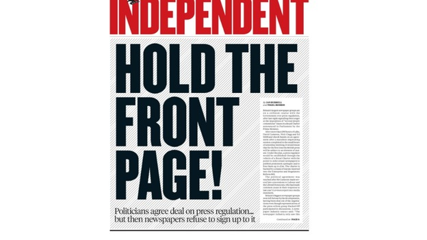 Hold The Front Page: The Independent reacts to press regulation deal