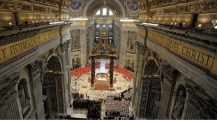 The Vatican pictured before the 115 Cardinals voted for Pope Francis