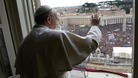 Pope Francis delivered his first Angelus prayer and blessing