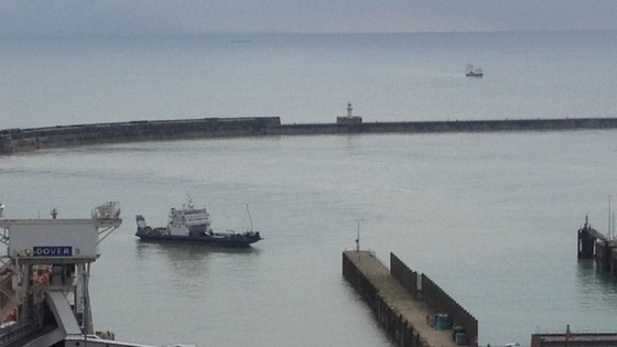The ship Joline arrives at Dover