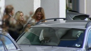 Joss Stone climbs into a car waiting near the court