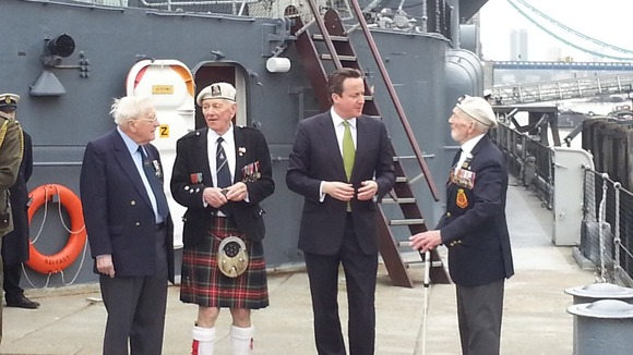 David Cameron meeting with veterans