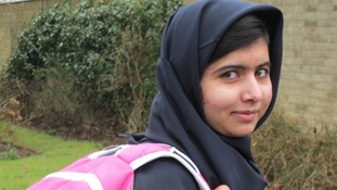 Malala's first steps back to school
