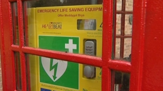 Defibrillator fitted in another village phone box