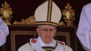 Pope Francis during his inaugural mass.