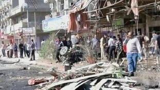 The aftermath of today's attack in Iraq's capital Baghdad