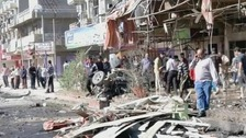 The aftermath of today&#x27;s attack in Iraq&#x27;s capital Baghdad
