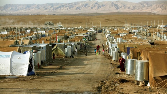 The Domiz refugee camp near Dohuk, in October there were 15000 Syrian refugees