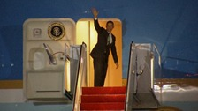 President Obama leaves for his visit to Israel