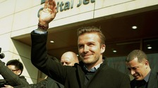 David Beckham leaves the family behind for his trip to China