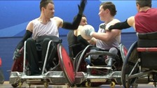 The Canadian wheelchair rugby team