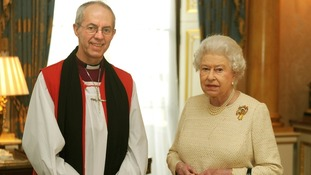 The Queen receives the new Archbishop of Canterbury, the Most Reverend Justin Welby after his act of 'Homage'