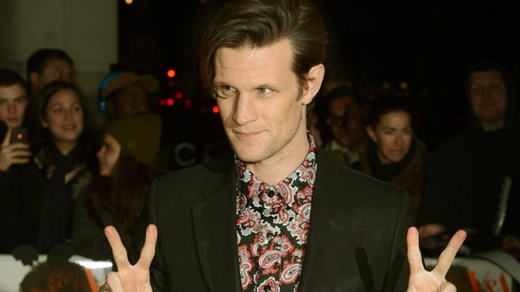 Matt Smith arriving at the David Bowie Is exhibition
