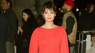 Pixie Geldof arriving at the David Bowie Is exhibition