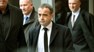 Coronation Street actor Michael Le Vell pictured leaving Manchester Magistrates Court last month