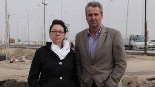 Terry Lloyd's daughter Chelsey and ITV News presenter Mark Austin