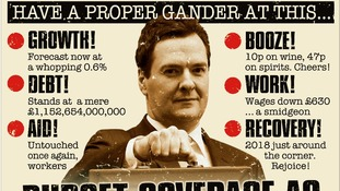 The Sun says: 'Budget Coverage as Approved by the Ministry of Truth'