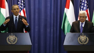 President Barack Obama and Palestinian President Mahmoud Abbas.
