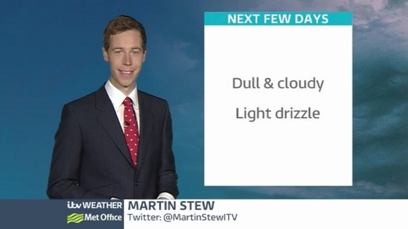 ITV London&#x27;s Weatherman Martin Stew