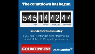 The Better Together campaign has created a countdown clock to the referendum.