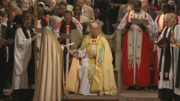 The enthronement of Rt Rev Justin Welby.