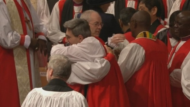 The new Archbishop of Canterbury, Rt Rev Justin Welby
