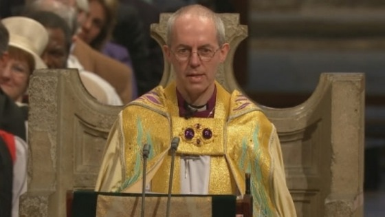 Rt Rev Justin Welby makes his first sermon as the Archbishop of Canterbury.