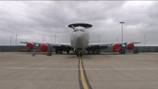 Surveillance plane at RAF Waddington