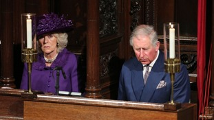 The Duchess of Cornwall and the Prince of Wales attended the Archbishop of Canterbury's enthronement ceremony.