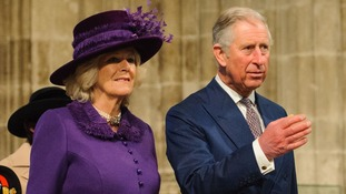 The Prince of Wales and the Duchess of Cornwall attended the ceremony.
