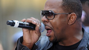 Bobby Brown turned himself in to authorities on Wednesday.