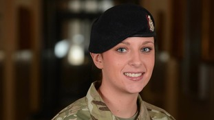 Private Abbie Martin, of the Royal Army Medical Corps who has been awarded a Queen's Commendation for Valuable Service (QCVS)