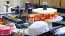 Back in production: Marmite labels being processed