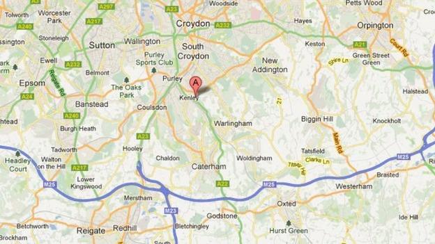 map of riddlesdown near kenley