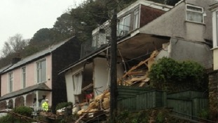 Woman missing after landslide in Looe