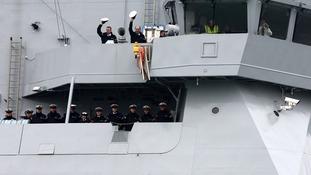HMS Duncan crew