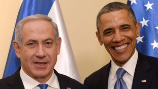 Israeli Prime Minister Benjamin Netanyahu pictured with US President Barack Obama earlier this week.