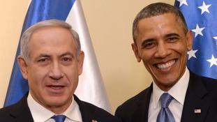 Israeli Prime Minister Benjamin Netanyahu pictured with US President Barack Obama earlier this week.